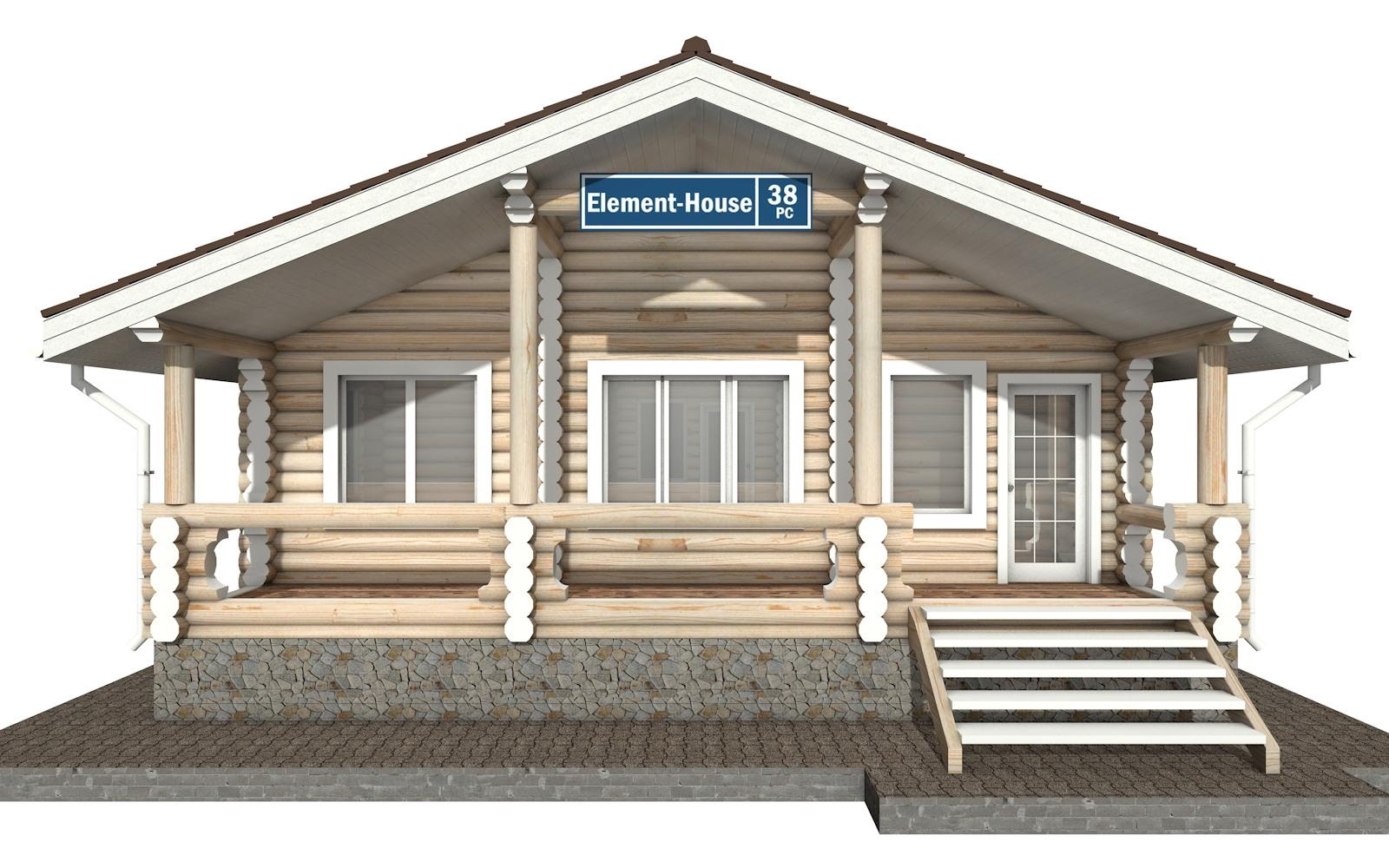 Фото #5: Красивый деревянный дом РС-38 из бревна
