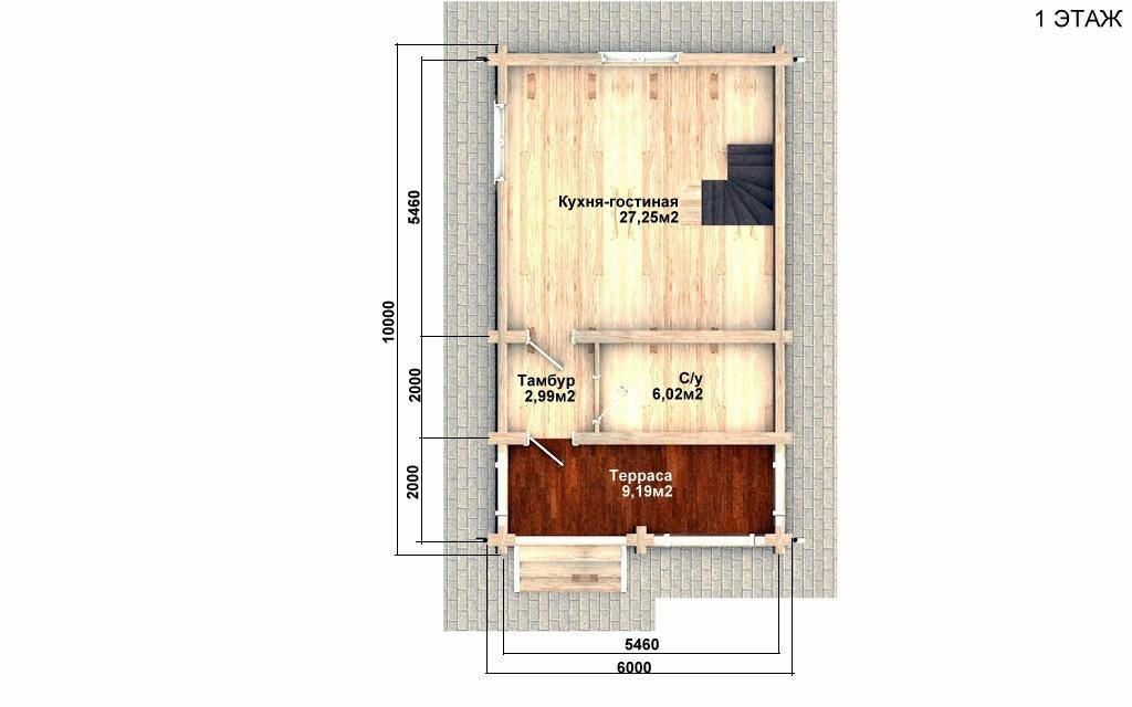 Фото #2: Красивый деревянный дом РС-88 из бревна