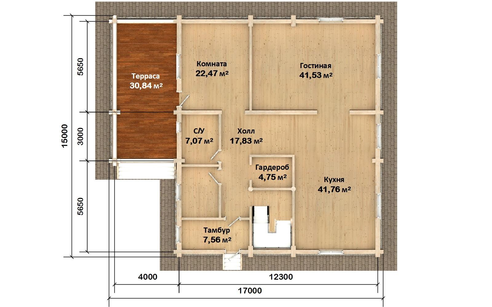 Фото #4: Красивый деревянный дом РС-127 из бревна