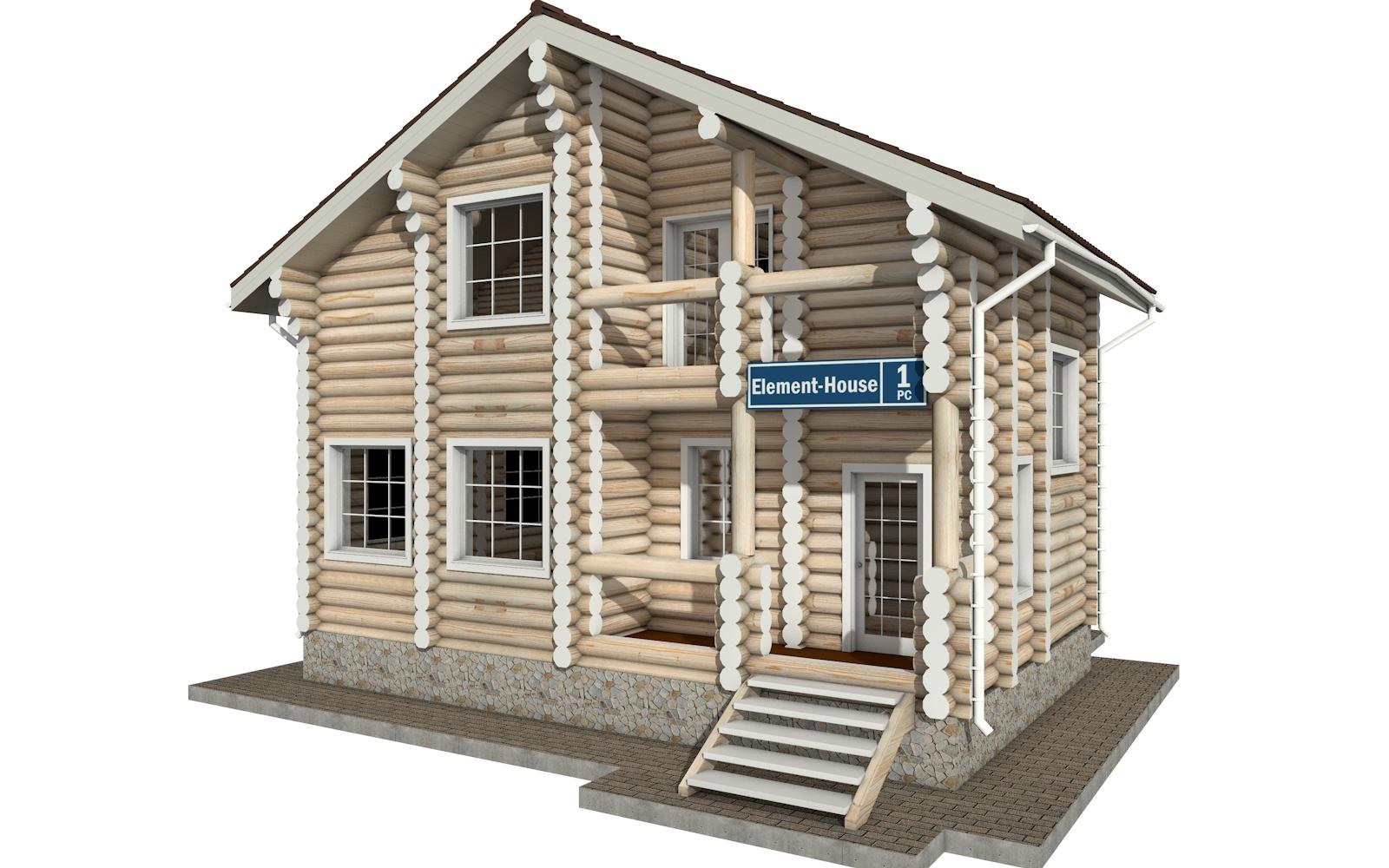 РС-1 - деревянный дома из бревна (из сруба)