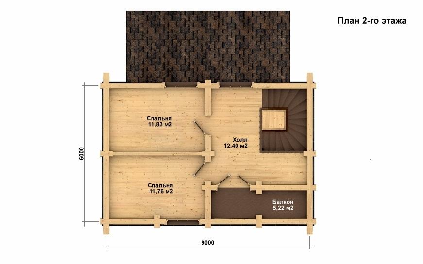 Фото #3: Красивый деревянный дом РС-1 из бревна