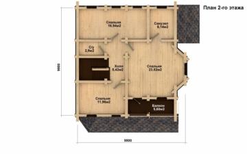 Фото #3: Красивый деревянный дом РС-4 из бревна