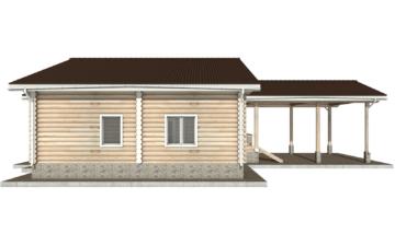 Фото #8: Красивый деревянный дом РС-40 из бревна