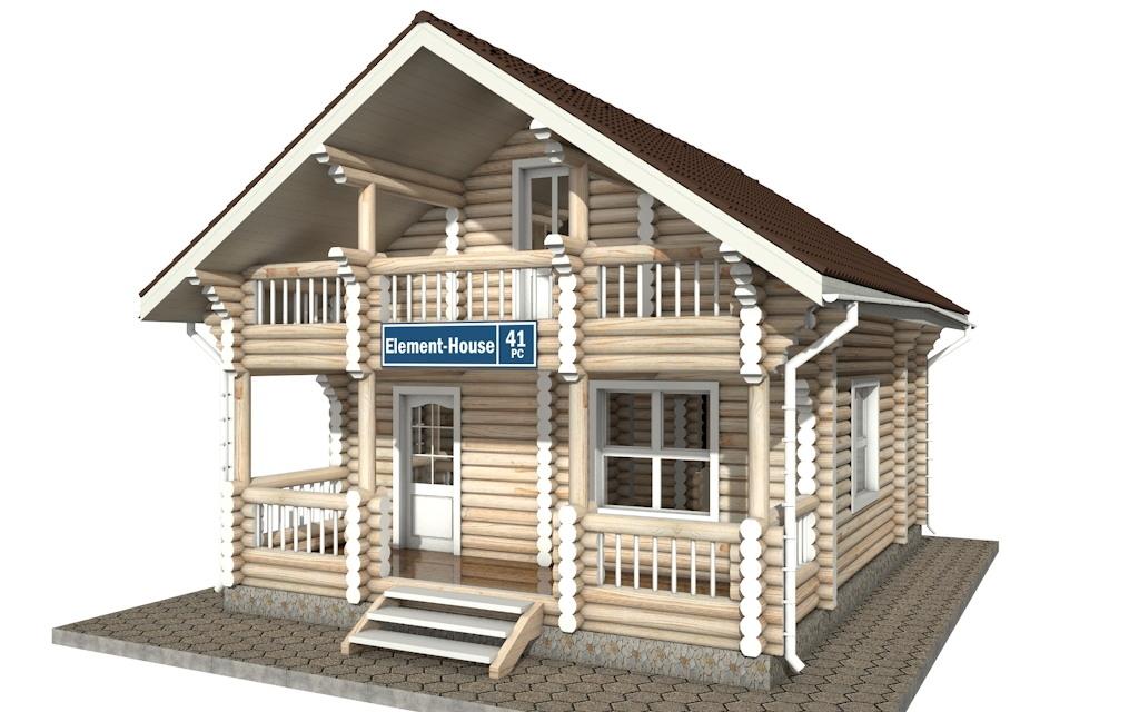 Фото #4: Красивый деревянный дом РС-41 из бревна