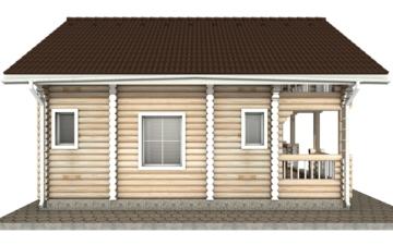 Фото #8: Красивый деревянный дом РС-41 из бревна