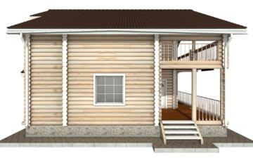 Фото #8: Красивый деревянный дом РС-42 из бревна