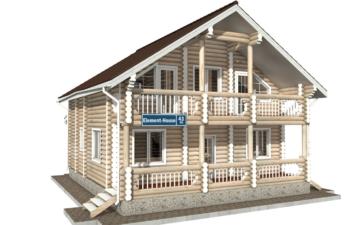 Фото #5: Красивый деревянный дом РС-43 из бревна