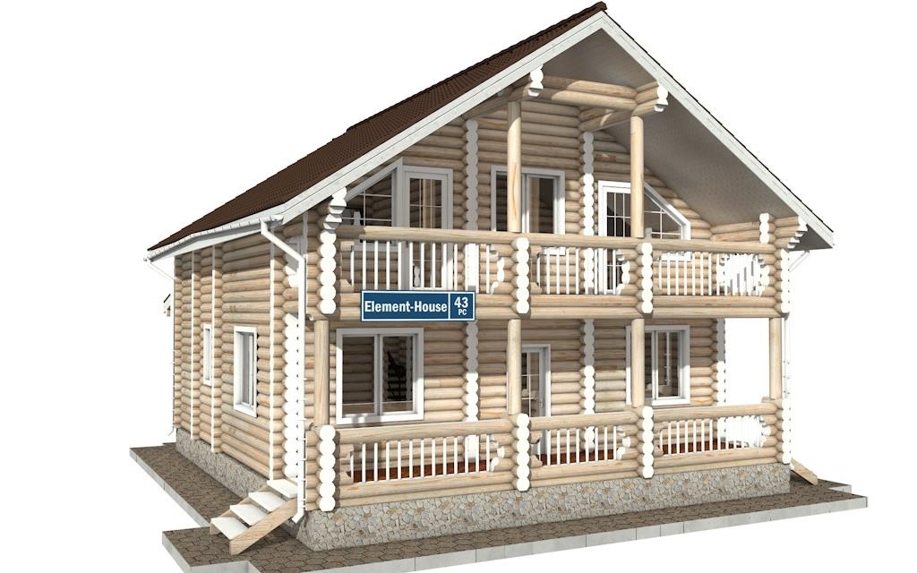 Фото #4: Красивый деревянный дом РС-43 из бревна