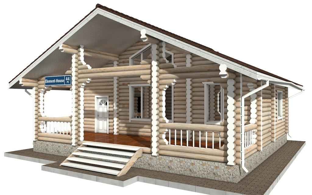 Фото #2: Красивый деревянный дом РС-44 из бревна