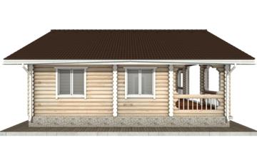 Фото #8: Красивый деревянный дом РС-44 из бревна
