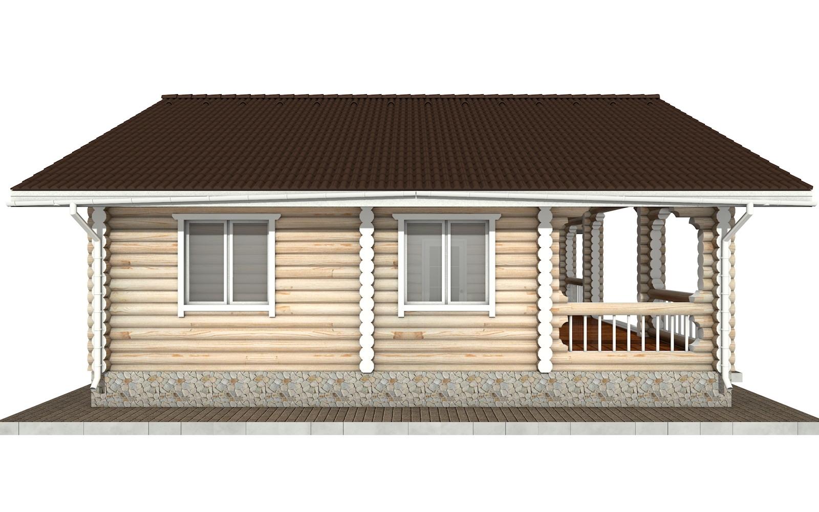 Фото #6: Красивый деревянный дом РС-44 из бревна
