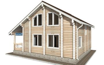 Фото #2: Красивый деревянный дом РС-45 из бревна