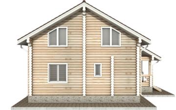Фото #8: Красивый деревянный дом РС-45 из бревна