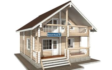 Фото #2: Красивый деревянный дом РС-47 из бревна