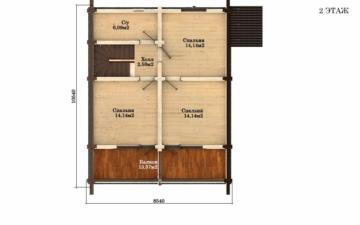 Фото #5: Красивый деревянный дом РС-47 из бревна