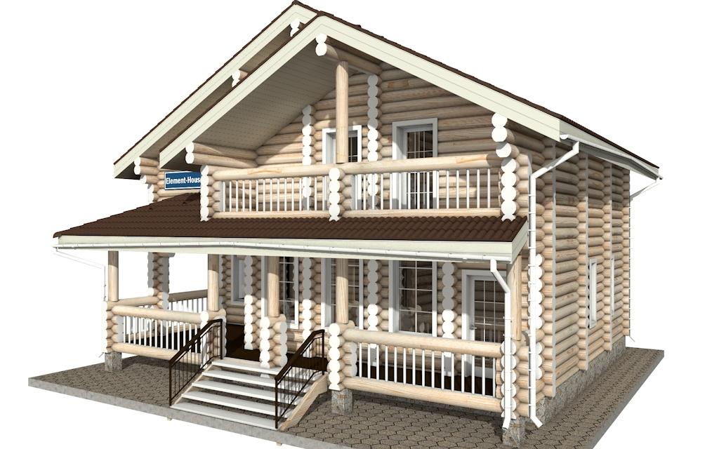 Фото #4: Красивый деревянный дом РС-5 из бревна