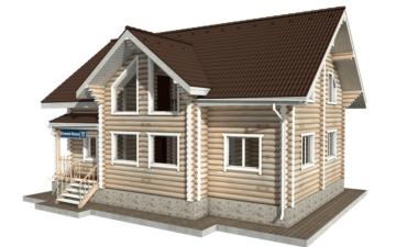 Фото #5: Красивый деревянный дом РС-50 из бревна