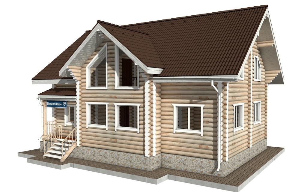 Фото #4: Красивый деревянный дом РС-50 из бревна