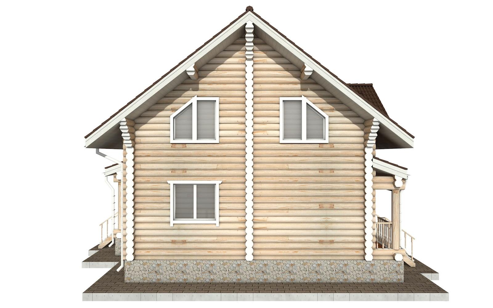 Фото #7: Красивый деревянный дом РС-50 из бревна