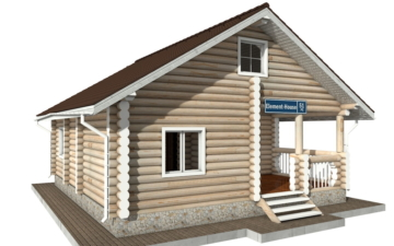 Фото #2: Красивый деревянный дом РС-51 из бревна