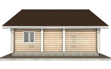 Фото #8: Красивый деревянный дом РС-51 из бревна