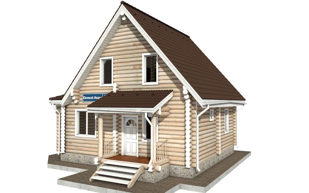 Фото #4: Красивый деревянный дом РС-52 из бревна