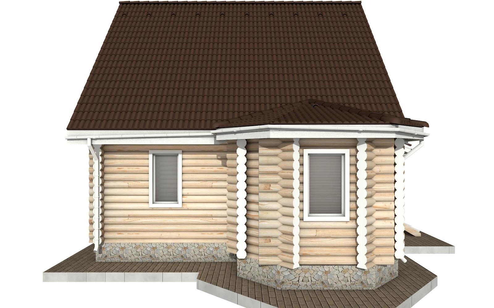 Фото #7: Красивый деревянный дом РС-52 из бревна