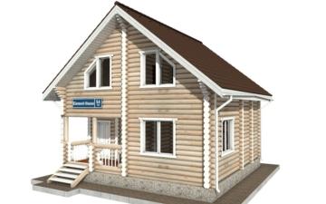 Фото #2: Красивый деревянный дом РС-54 из бревна