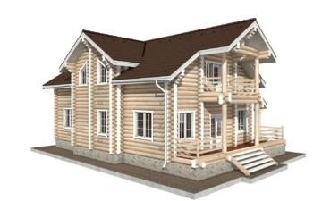 Фото #2: Красивый деревянный дом РС-55 из бревна