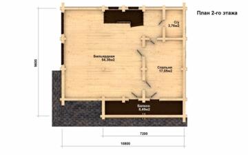 Фото #3: Красивый деревянный дом РС-5 из бревна
