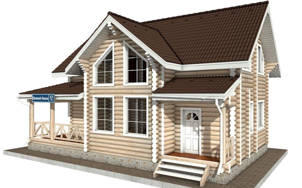 Фото #4: Красивый деревянный дом РС-57 из бревна