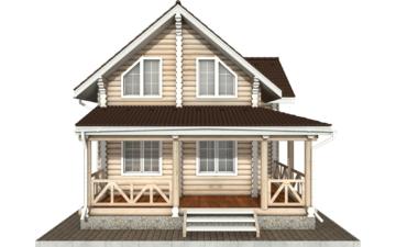 Фото #8: Красивый деревянный дом РС-57 из бревна