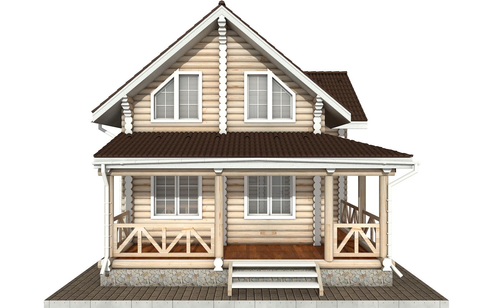 Фото #7: Красивый деревянный дом РС-57 из бревна