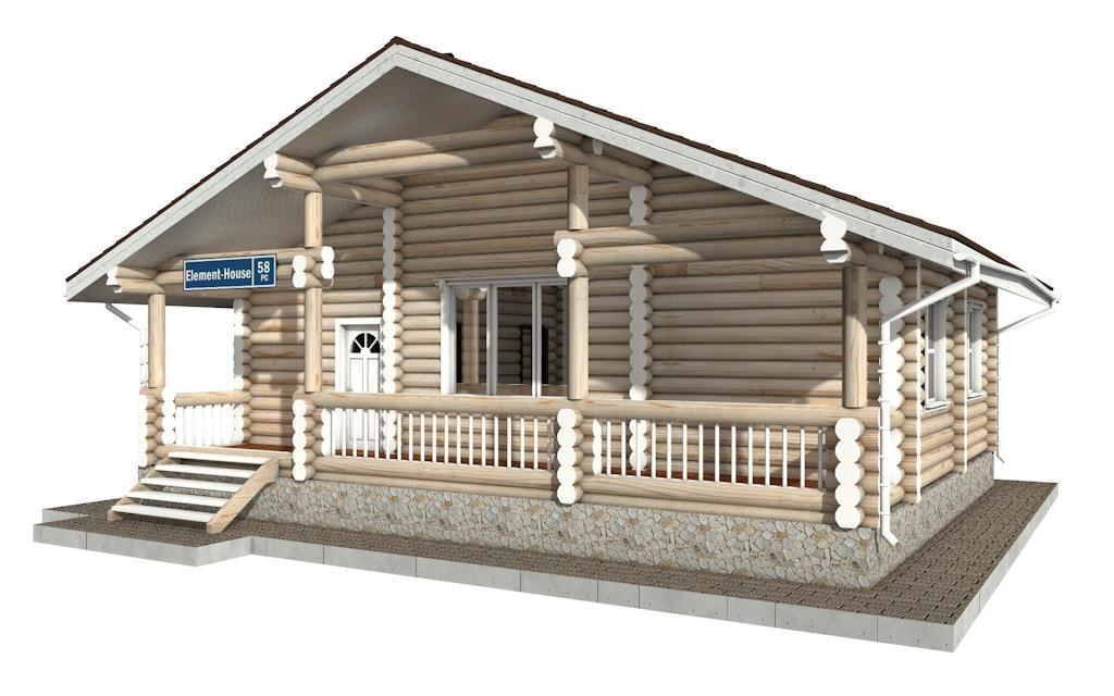Фото #3: Красивый деревянный дом РС-58 из бревна