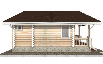 Фото #8: Красивый деревянный дом РС-58 из бревна