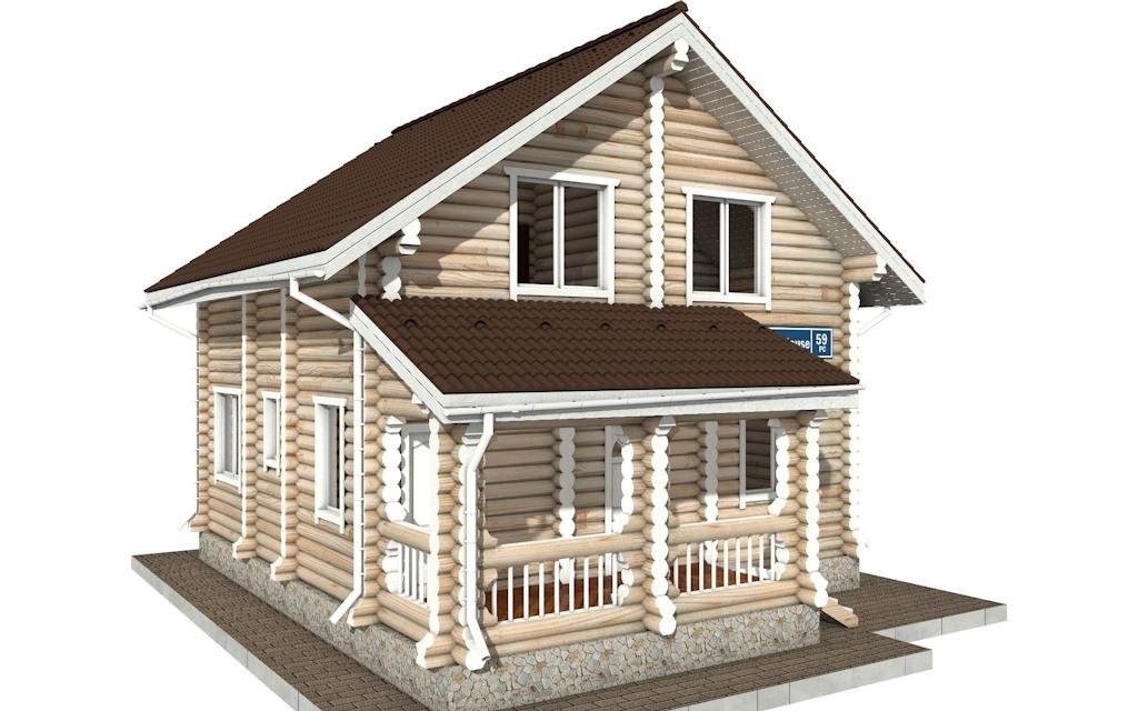 Фото #4: Красивый деревянный дом РС-59 из бревна