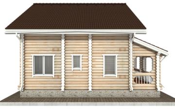 Фото #8: Красивый деревянный дом РС-59 из бревна