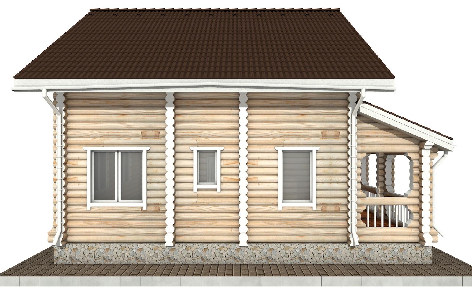 Фото #7: Красивый деревянный дом РС-59 из бревна