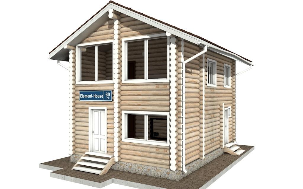 Фото #4: Красивый деревянный дом РС-60 из бревна