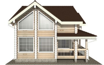 Фото #8: Красивый деревянный дом РС-5 из бревна