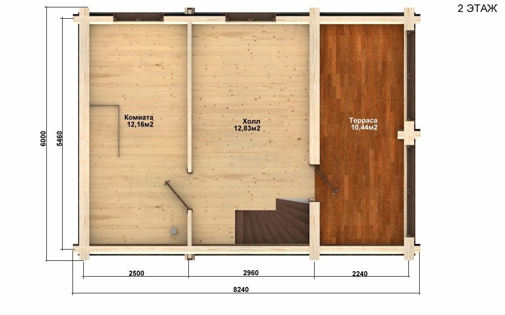 Фото #3: Красивый деревянный дом РС-60 из бревна
