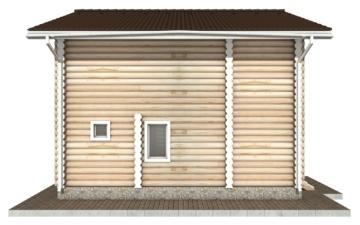 Фото #8: Красивый деревянный дом РС-60 из бревна