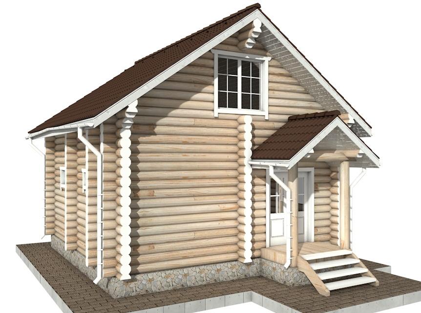 Фото #2: Красивый деревянный дом РС-61 из бревна