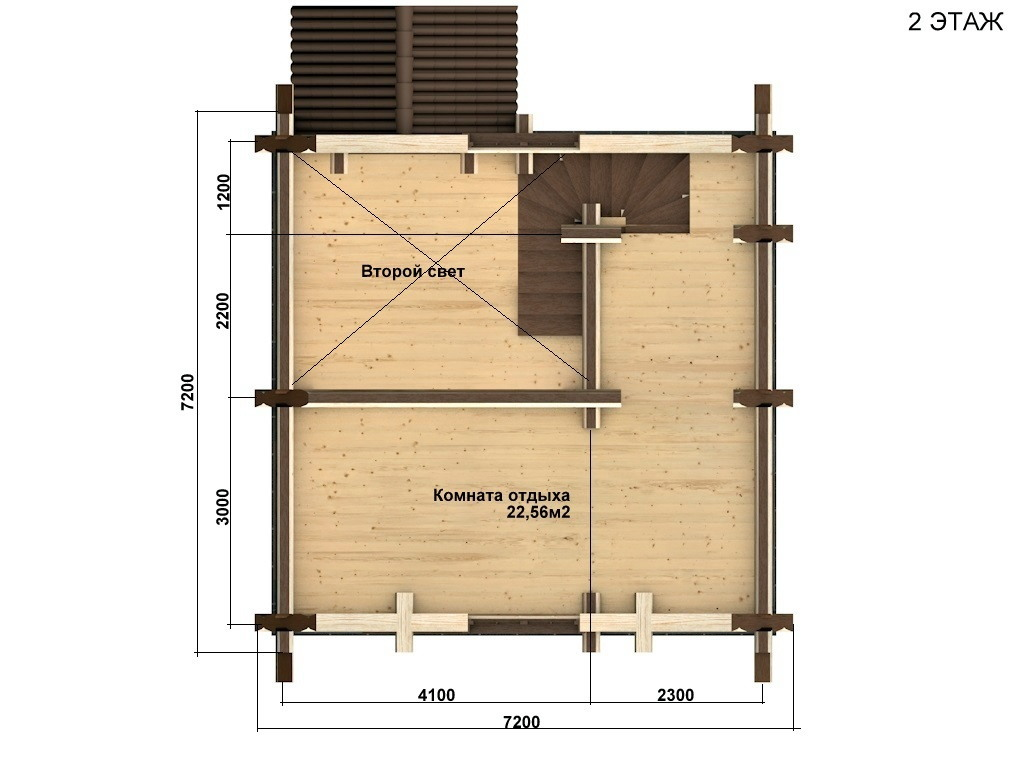Фото #5: Красивый деревянный дом РС-61 из бревна