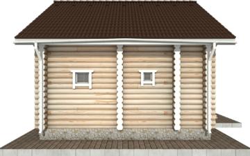 Фото #8: Красивый деревянный дом РС-61 из бревна