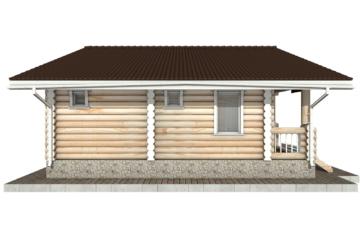 Фото #8: Красивый деревянный дом РС-62 из бревна
