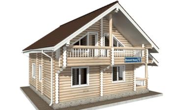 Фото #2: Красивый деревянный дом РС-63 из бревна