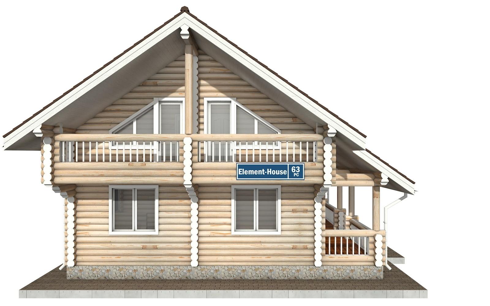 Фото #7: Красивый деревянный дом РС-63 из бревна