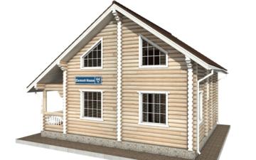 Фото #5: Красивый деревянный дом РС-64 из бревна