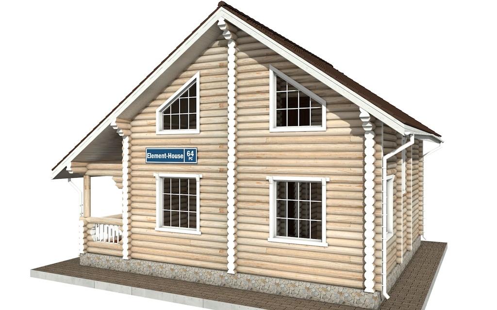Фото #4: Красивый деревянный дом РС-64 из бревна